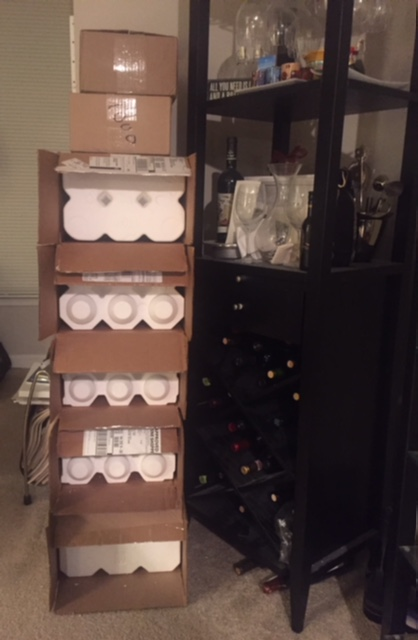 tower of wine boxes